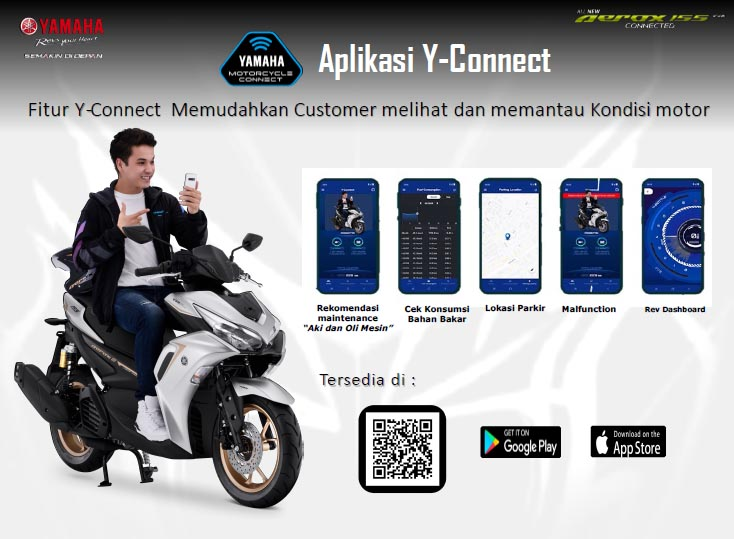 Fitur Y Connect All New Aerox 155 Connected